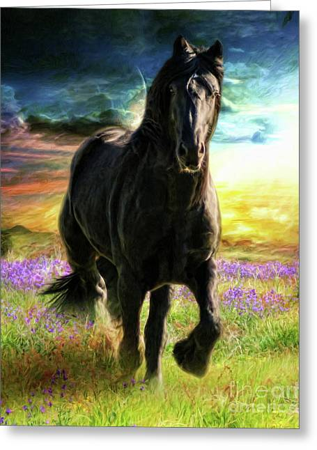 Greeting Card featuring the digital art  Darkness Descending by Trudi Simmonds