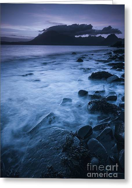Darkness Falls At Elgol Greeting Card