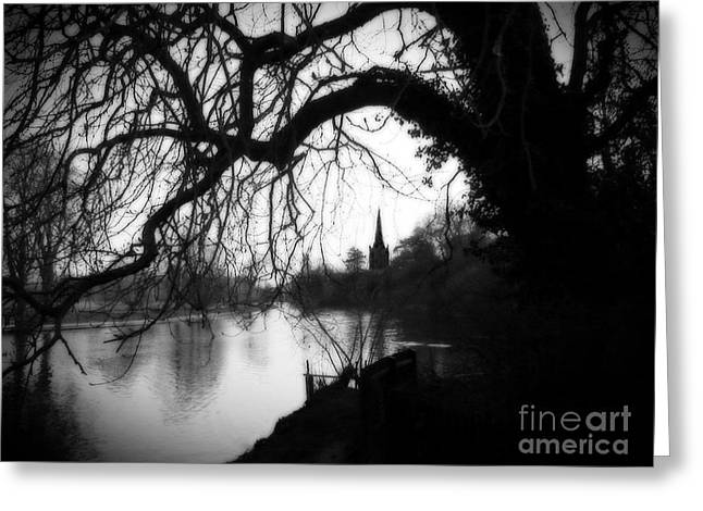 Greeting Card featuring the photograph Darkness Looms Over The Avon by Sue Melvin