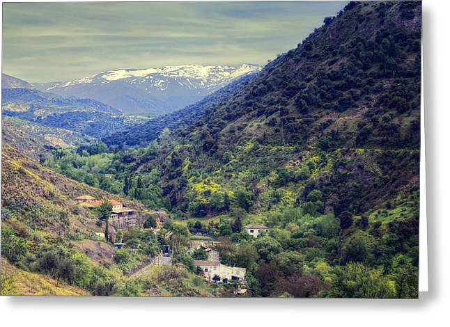 Darro River Valley Granada Greeting Card