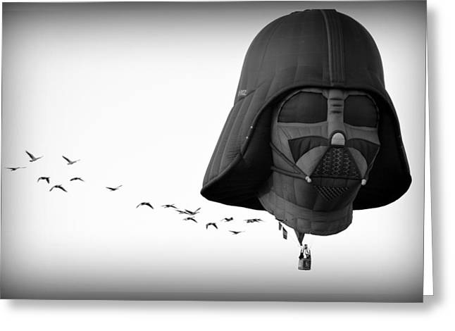 Greeting Card featuring the photograph Darth And His Flock by AJ Schibig