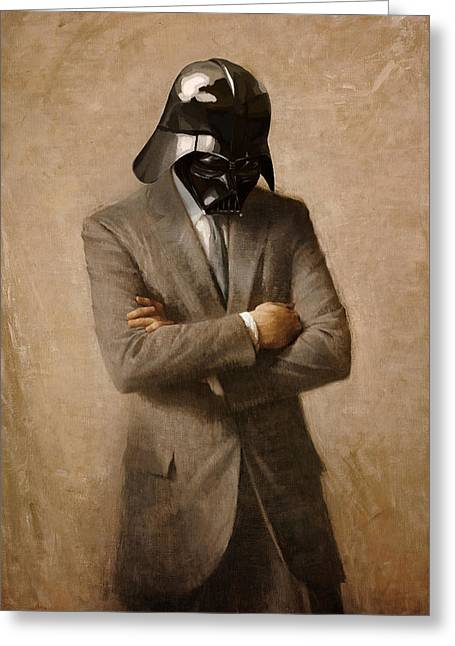 Darth Kennedy Greeting Card by Mitch Boyce