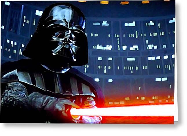 Darth Vader Greeting Card by Mitch Boyce