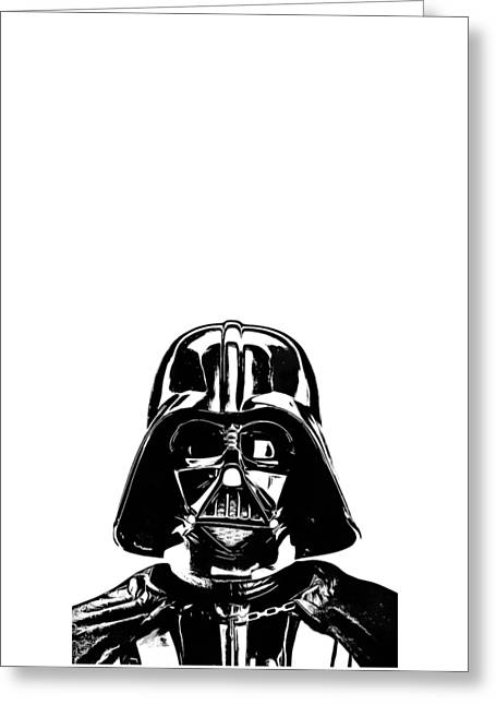 Darth Vader Painting Greeting Card by Edward Fielding
