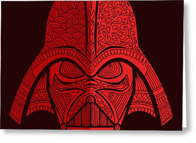 Darth Vader - Star Wars Art - Red 02 Greeting Card