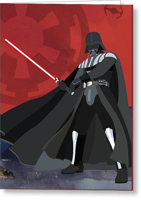 Darth Vader Star Wars Character Quotes Poster Greeting Card by Lab No 4