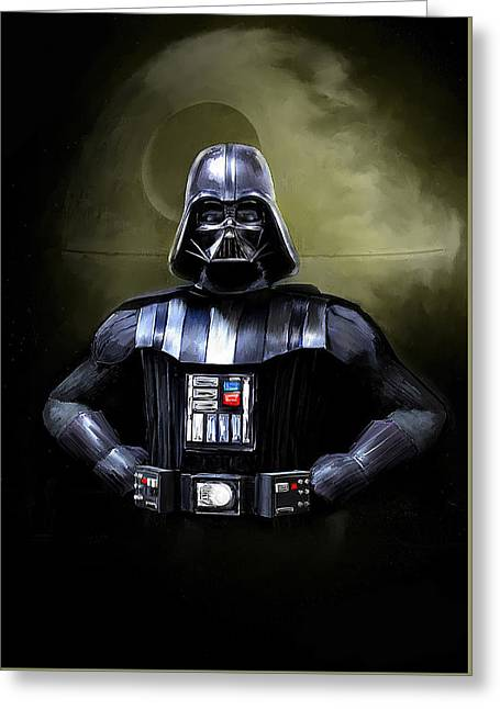 Darth Vader Star Wars  Greeting Card by Michael Greenaway