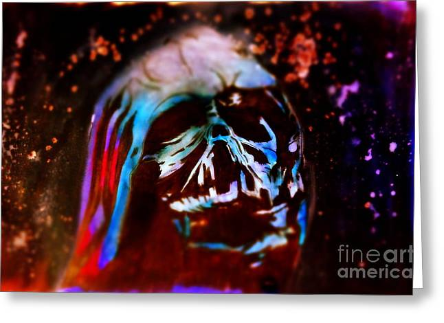 Darth Vader's Melted Helmet Greeting Card by Justin Moore