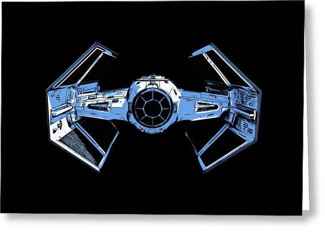 Darth Vaders Tie Figher Advanced X1 Tee Greeting Card