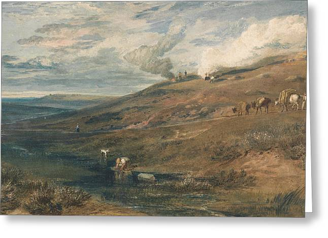 Dartmoor The Source Of The Tamar And The Torridge Greeting Card by Joseph Mallord William Turner