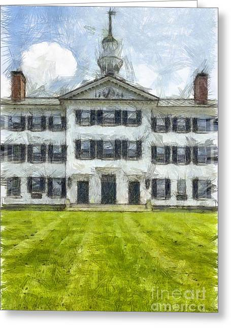 Dartmouth College Hanover New Hampshire Pencil Greeting Card by Edward Fielding