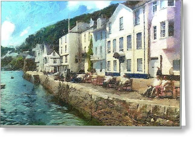 Bayards Cove Dartmouth Devon  Greeting Card