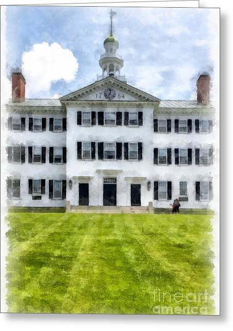 Dartmouth Hall Dartmouth College Greeting Card by Edward Fielding
