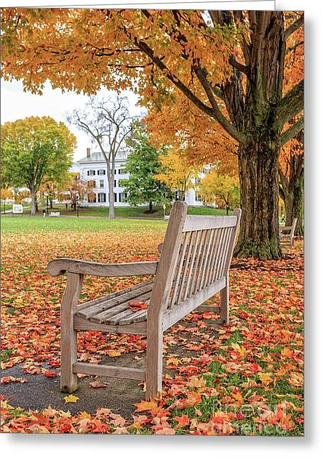 Dartmouth Hanover Green In Autumn Greeting Card by Edward Fielding