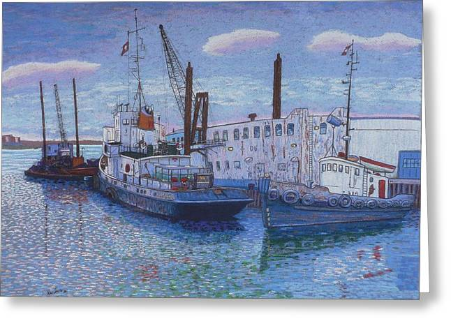 Dartmouth Marine Slips Greeting Card by Rae  Smith