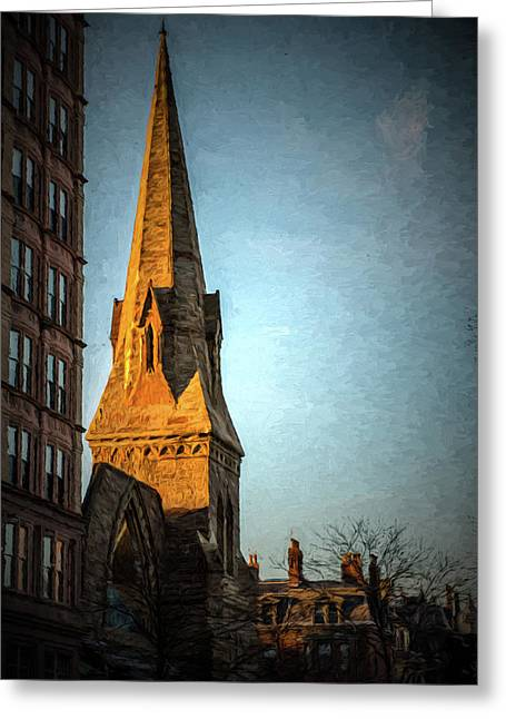 Dartmouth Street In Boston Greeting Card
