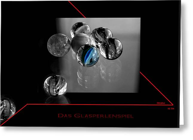 Das Glasperlenspiel Greeting Card by Martina  Rathgens