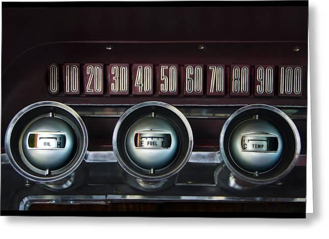 Dashboard Detail -1966 Ford Thunderbird Greeting Card