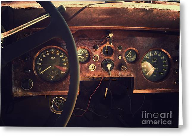 Dashboard Jaguar Ix Greeting Card by David Nicholson
