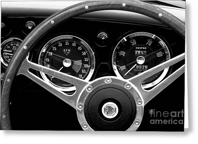Greeting Card featuring the photograph Dashboard by Stephen Mitchell