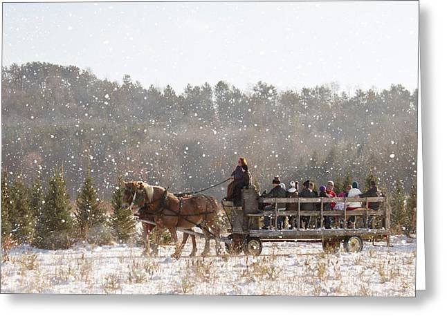 Dashing Through The Snow Greeting Card by Inspired Arts
