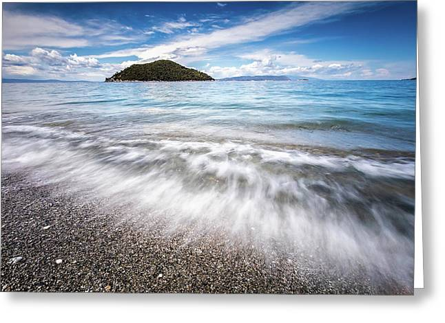 Dasia Island Greeting Card by Evgeni Dinev