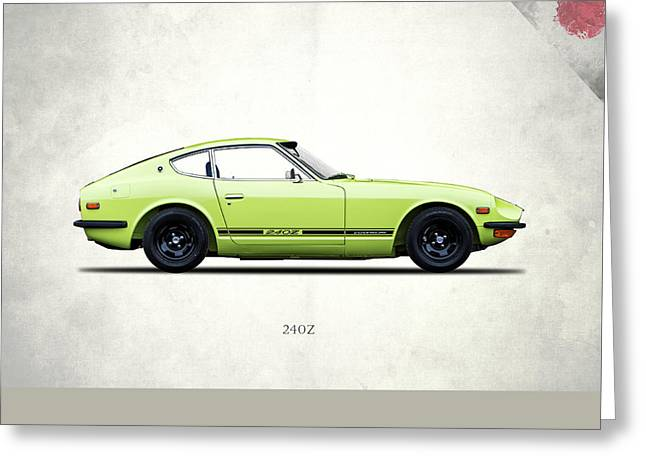 Datsun 240z Greeting Card by Mark Rogan
