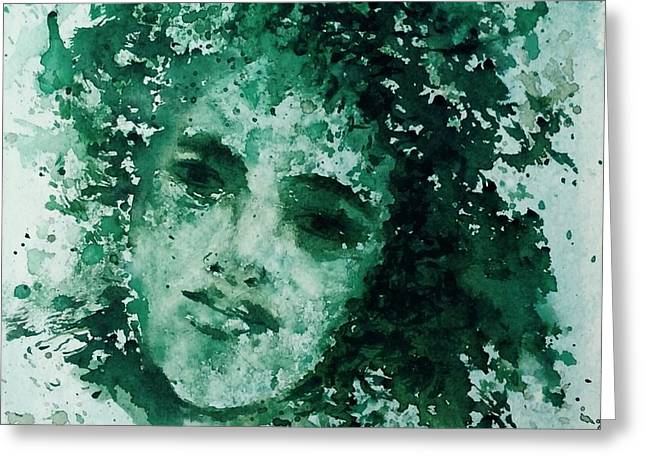 Greeting Card featuring the painting Daughter Of Nature by Laila Awad Jamaleldin