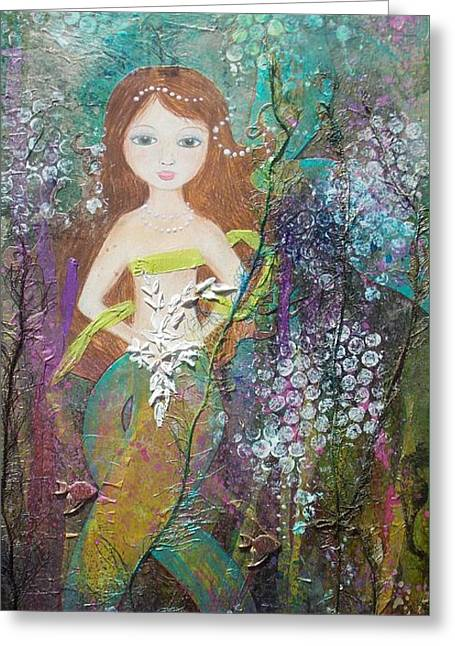 Daughter Of The Sea Greeting Card by Virginia Coyle