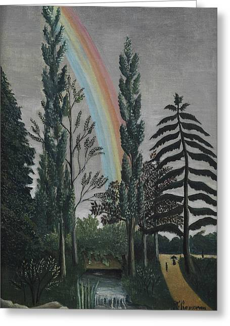 Daumesnil Lake Greeting Card by Henri Rousseau