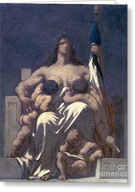Daumier: Republic, 1848 Greeting Card by Granger
