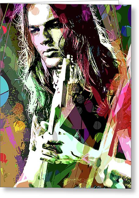 Dave Gilmour Dark Side Greeting Card