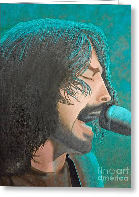Dave Grohl Of The Foo Fighters Greeting Card