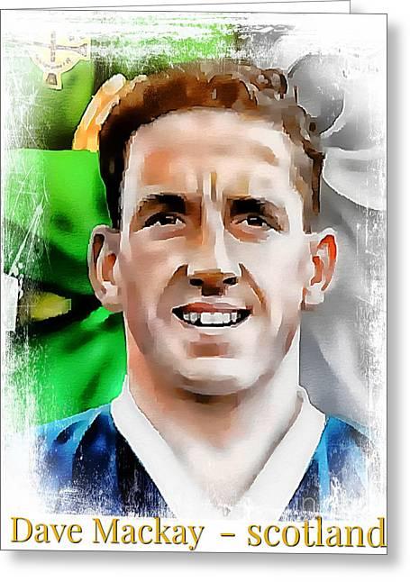Dave Mackay Football Legend Greeting Card
