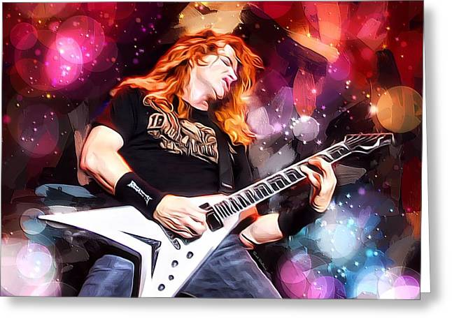 Dave Mustaine Portrait Greeting Card