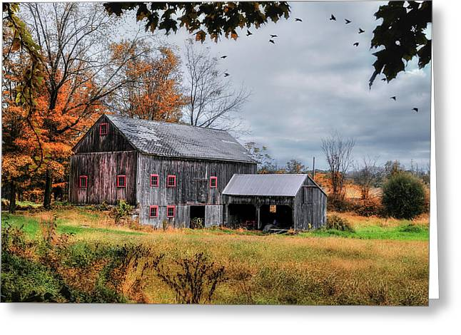 Davenport Farm - Connecticut Scenic Greeting Card by Thomas Schoeller