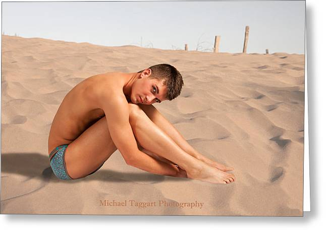 David Ashley On Sand Greeting Card