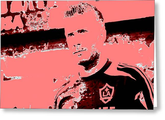 David Beckham 3h Greeting Card by Brian Reaves