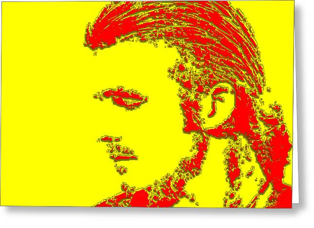 David Beckham 4a Greeting Card by Brian Reaves