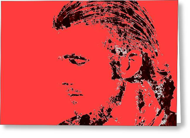 David Beckham 4r Greeting Card by Brian Reaves