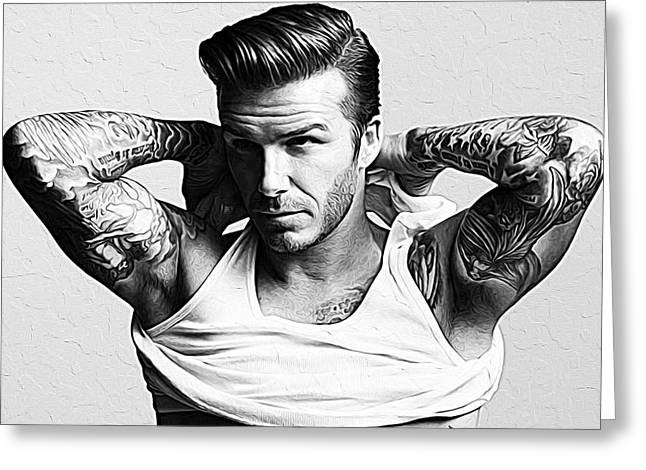 David Beckham Greeting Card