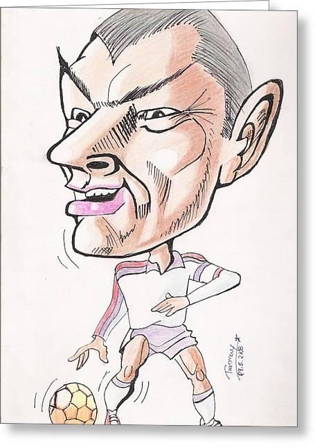 David Beckham Greeting Card by Tanmay Singh