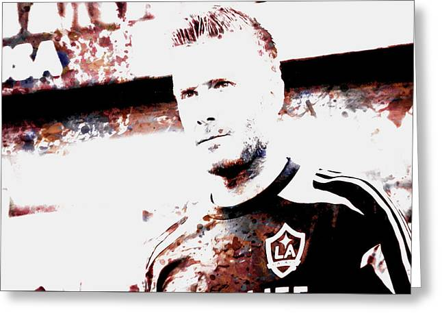 David Beckham The Legend Greeting Card by Brian Reaves