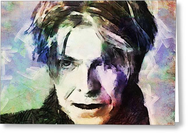 David Bowie 002 Greeting Card by Sergey Lukashin