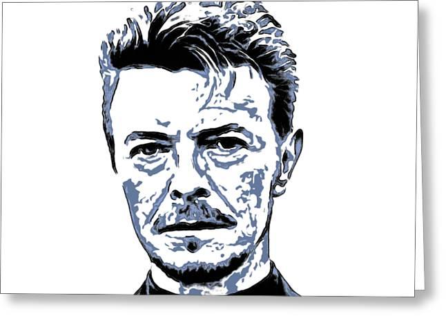 David Bowie 003 Greeting Card by Sergey Lukashin