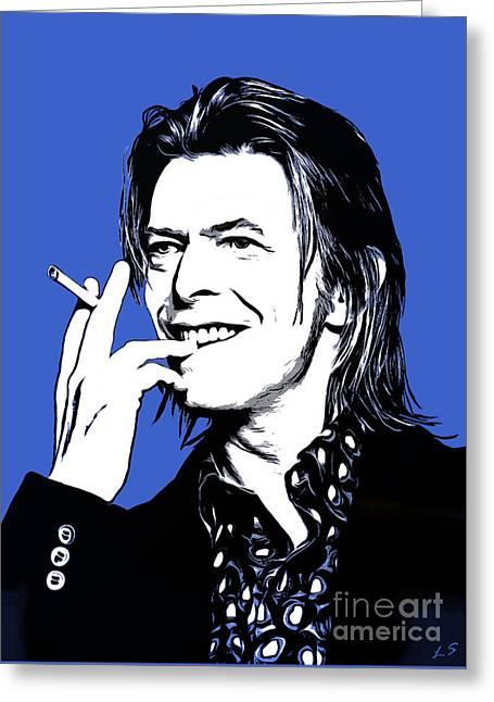 David Bowie 004 Greeting Card by Sergey Lukashin