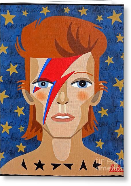 David Bowie Aladdin Sane Greeting Card