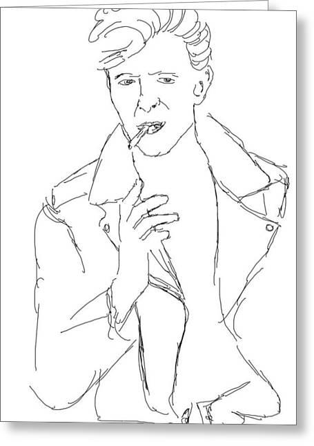 David Bowie Greeting Card by Angela Murray
