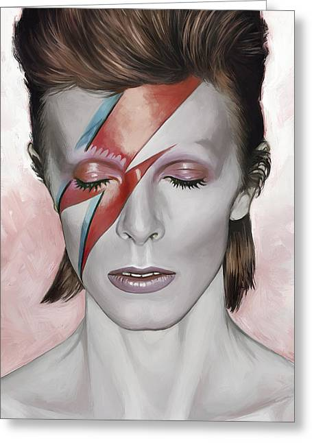 David Bowie Artwork 1 Greeting Card by Sheraz A