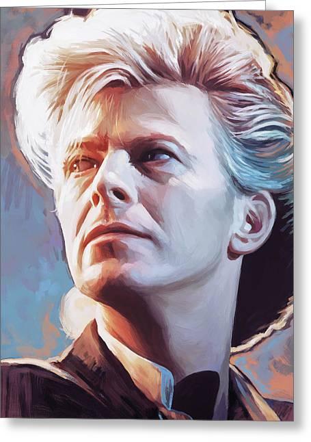 David Bowie Artwork 2 Greeting Card by Sheraz A